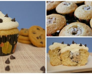 TOTS Family, Parenting, Kids, Food, Crafts, DIY and Travel Chocolate-Chip-Cookie-Dough-Cupcake-370x297 Chocolate Chip Cookie Dough Cupcake Recipe Desserts Food Kids TOTS Family  treat snack no egg cookie dough kids dessert cupcakes cookie dough chocolate chip cookie dough cupcakes