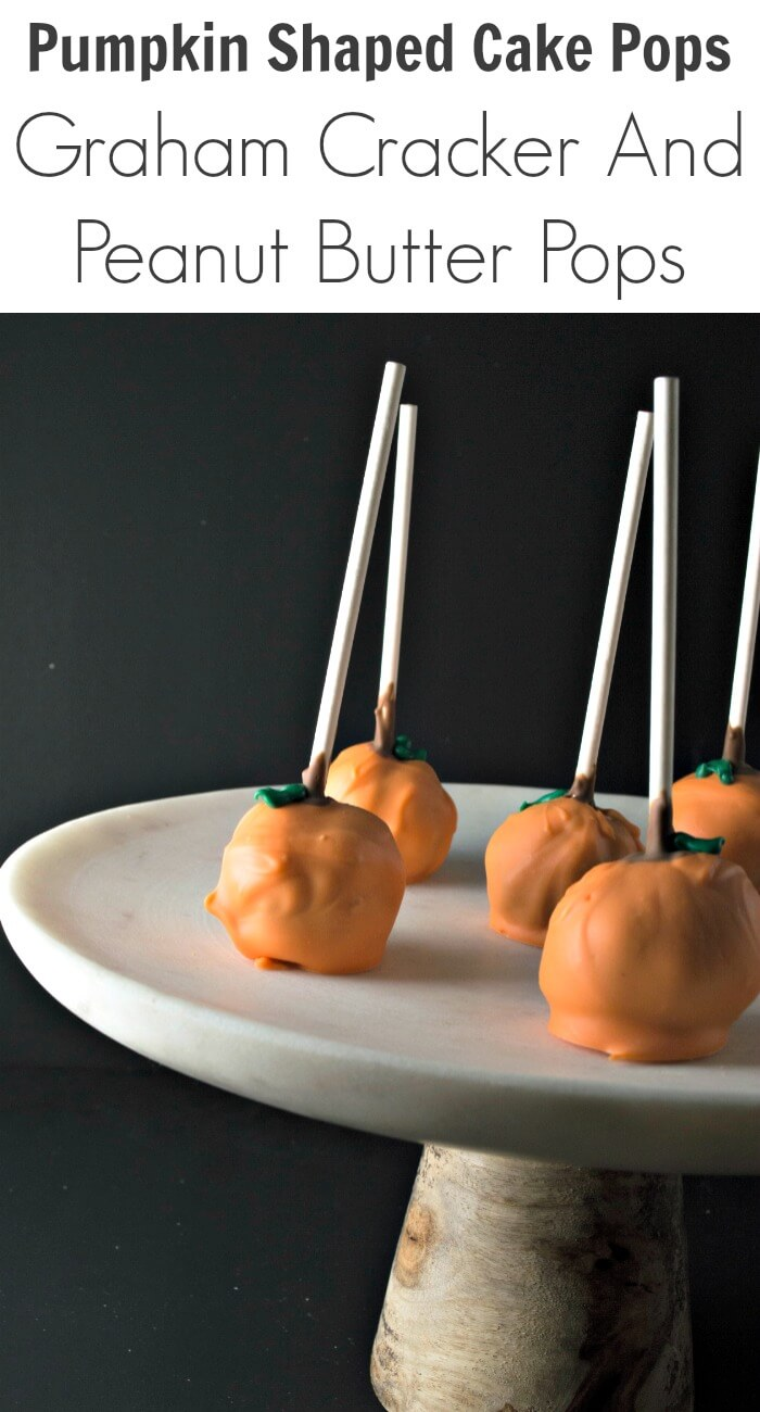 TOTS Family, Parenting, Kids, Food, Crafts, DIY and Travel Pumpkin-Shaped-Cake-Pops-Graham-Cracker-And-Peanut-Butter-Pops Pumpkin Shaped Cake Pops: Graham Cracker And Peanut Butter Pops Food Holiday Treats TOTS Family  sponsored halloween food fall