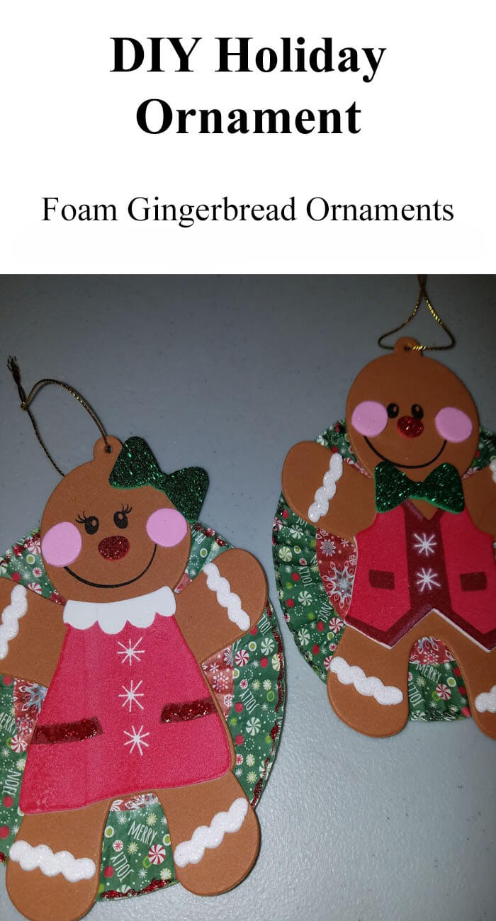 TOTS Family, Parenting, Kids, Food, Crafts, DIY and Travel DIYHolidayOrnament DIY Foam Gingerbread Christmas Ornaments Crafts Kids TOTS Family  kids craft christmas