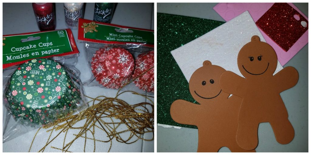 DIY Foam Gingerbread Christmas Ornaments