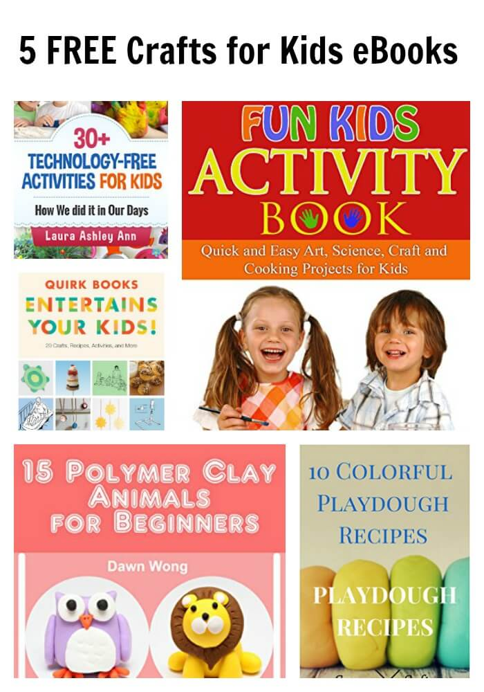 5 FREE Crafts for Kids eBooks