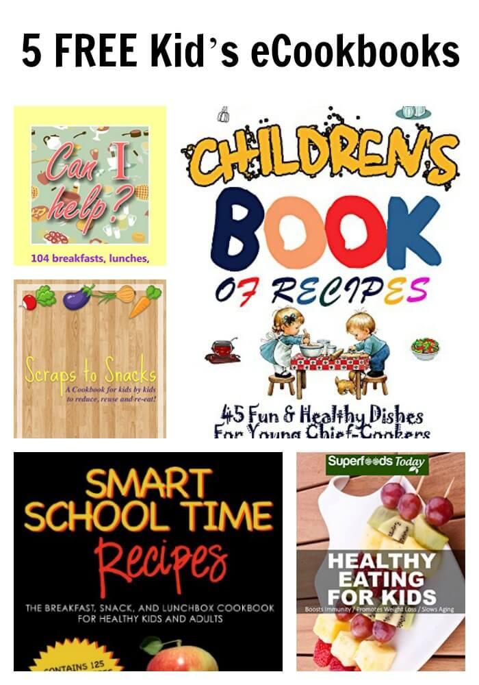 5 FREE Kid's eCookbooks