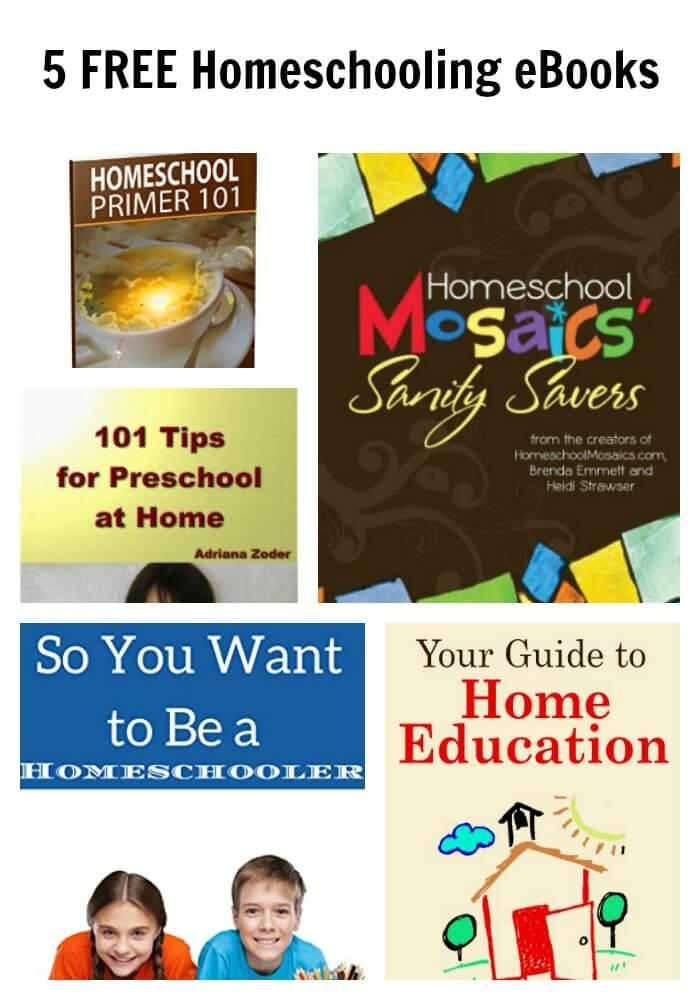 5 FREE Homeschooling eBooks