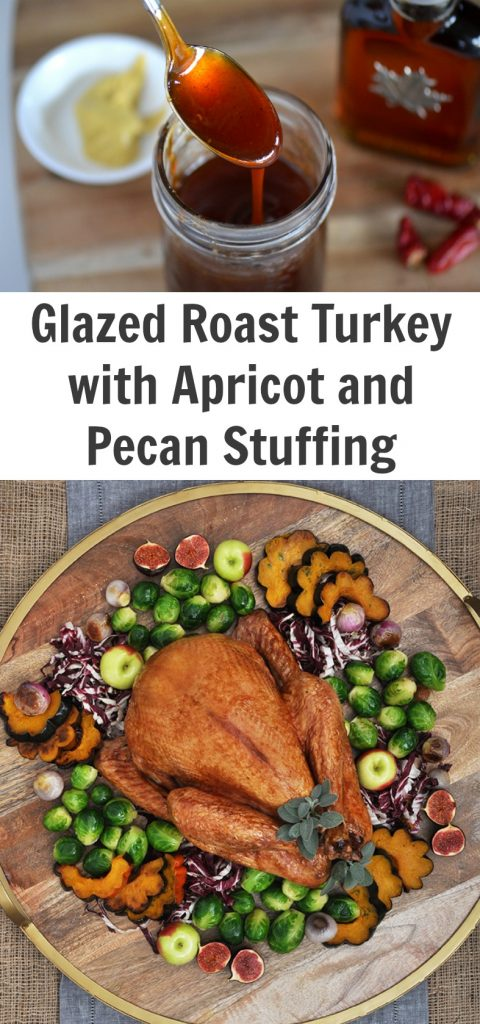 Glazed Roast Turkey with Apricot and Pecan Stuffing