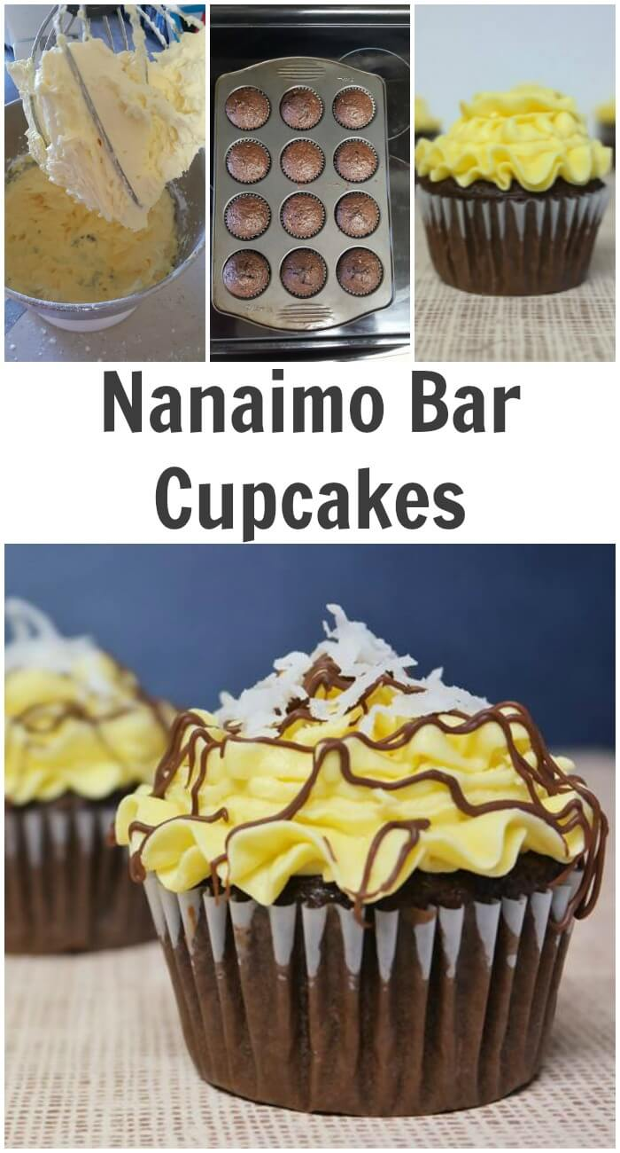 TOTS Family, Parenting, Kids, Food, Crafts, DIY and Travel Nanaimo-Bar-Cupcakes Nanaimo Bar Cupcakes Desserts Food TOTS Family  Nanaimo bar home made treat dessert cupcakes chocolate cupcakes