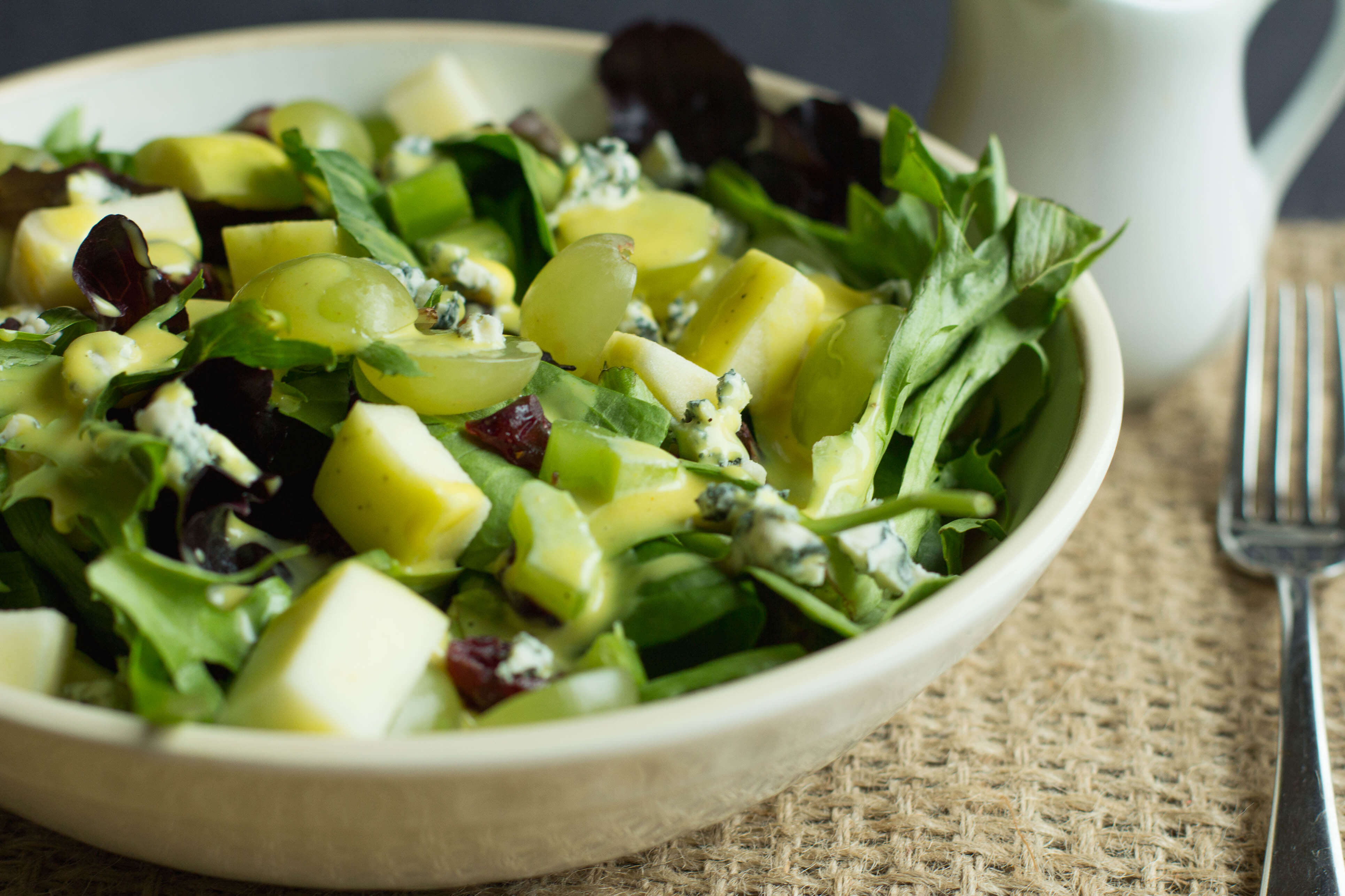 I am a big fan of serving a green salad with dinner. Its a great way to eat dark leafy greens, and maybe some other fruits and veggies. I love to use new ingredients to change things up.