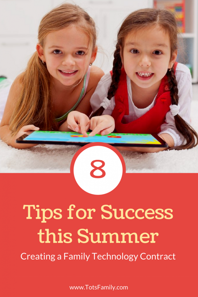 TOTS Family, Parenting, Kids, Food, Crafts, DIY and Travel 8-tips-for-success-this-summer-683x1024 The Summer Technology Contract Every Family Needs Parenting TOTS Family Travel  Technology Contract technology kids and technology
