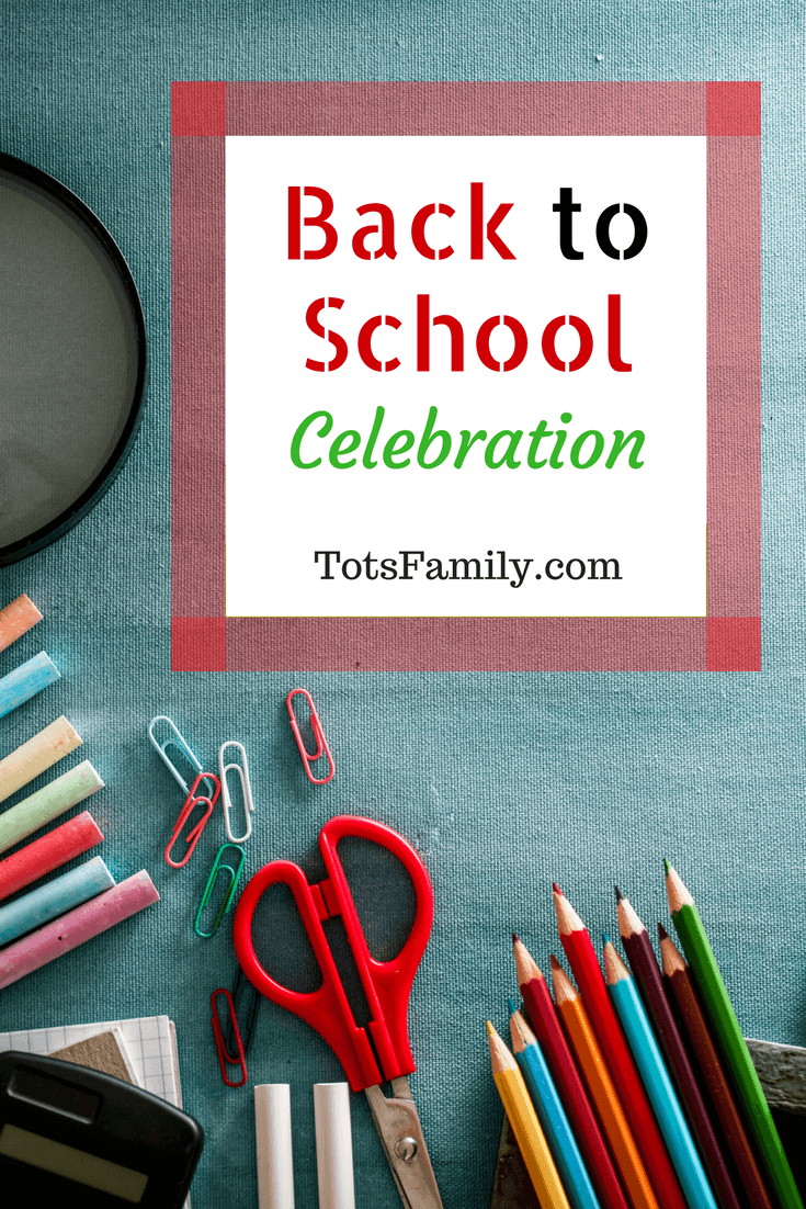 My oldest is super excited for back to school and for her it's a back to school celebration.