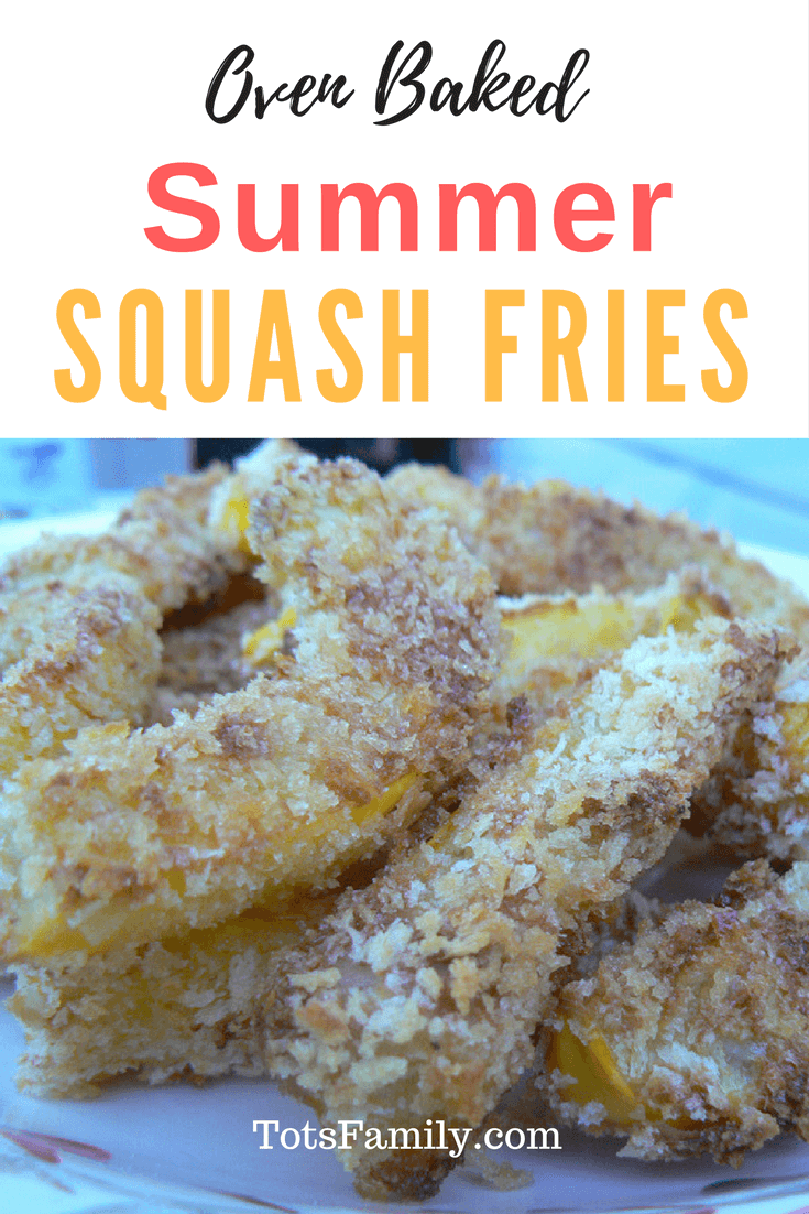 It tastes so good you might think it was fried - Oven Baked Summer Squash Fries.