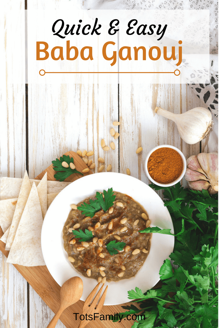 TOTS Family, Parenting, Kids, Food, Crafts, DIY and Travel Quick-and-Easy-Baba-Ganouj Quick and Easy Baba Ganouj Appetizers Food TOTS Family  Dips Dip Baba Ganouj