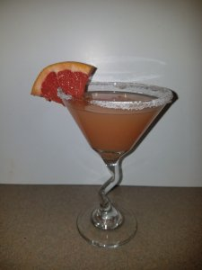 TOTS Family, Parenting, Kids, Food, Crafts, DIY and Travel 20170929_205729-225x300 Ruby Red Grapefruit Martini Drinks Food Uncategorized  Ruby Red Grapefruit Martini Martini drink