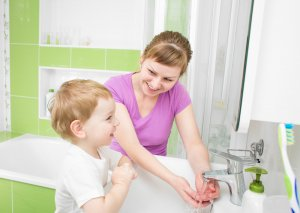 prevent your child from getting sick by washing hands often