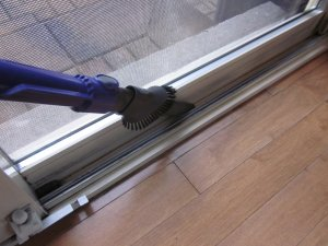 Dyson Ball Animal 2 cleaning our Sliding Door Track
