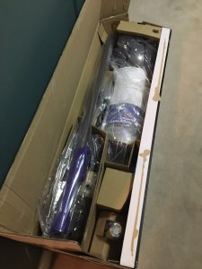 The Dyson Ball Animal 2 vacuum cleaner in the box