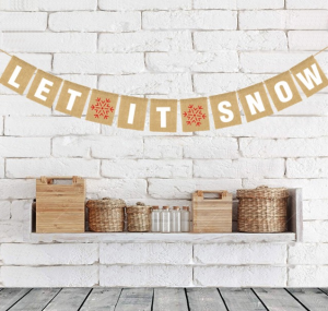 Awesome Value Christmas Decor. This let-it-snow banner is a wonderful Christmas decor item for any wall