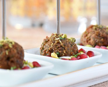 Turkey Falafel Bites are a delicious new receipe ideal for Holiday celebrations