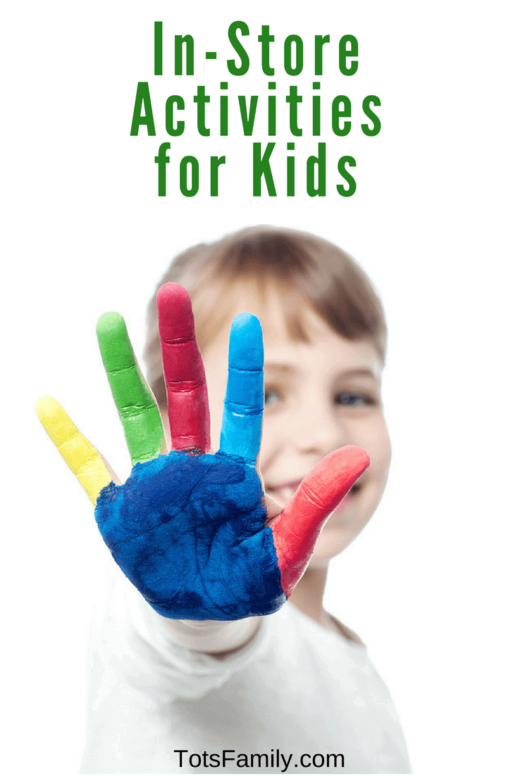 With the crazy weather recently it's tough to keep the kids busy so try these In-Store Activities for Kids.
