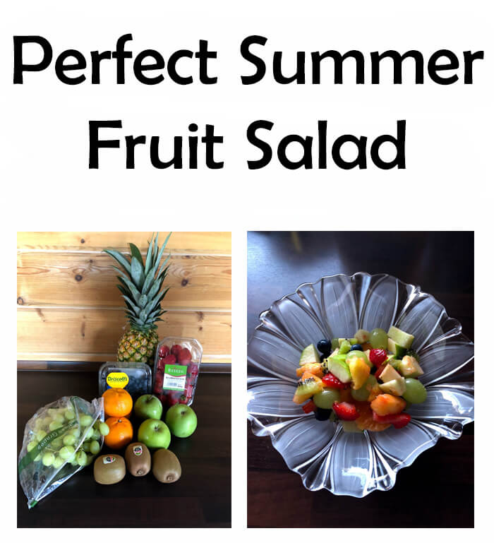 Since I just love being inside when it's super hot out, one of the ways I do that is with this recipe for the Perfect Summer Fruit Salad.