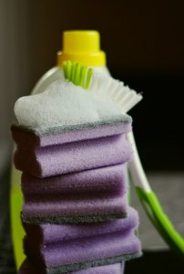 image of cleaning tools so learn How to Get the Most Out of Your Spring Cleaning