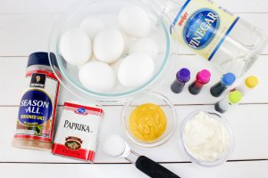 TOTS Family, Parenting, Kids, Food, Crafts, DIY and Travel Ingredients-300x200 Devilled Eggs Recipe Perfect for Easter Appetizers Food Holiday Treats TOTS Family  Devilled Eggs