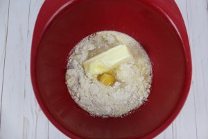 lemon dump cake mix with egg and butter added