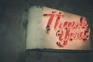 image of thank you sign - Baby Thank You Cards