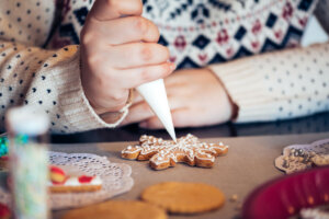 decorating cookies is one of 4 Fun Ideas to Keep Kids Busy Over the Holidays