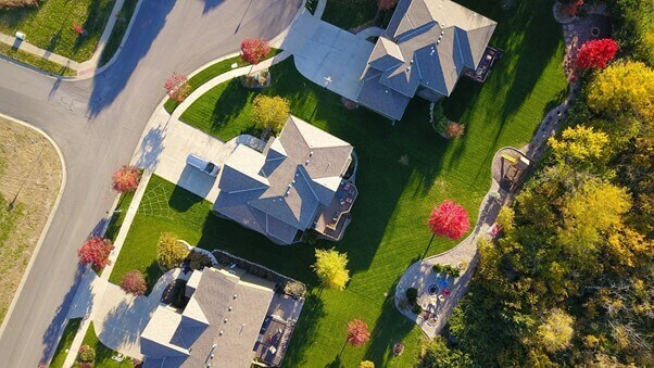 aerial view of residential homes - Tips for moving abroad