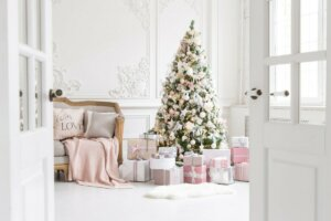 image of beautifully decorated christmas tree because this family learned 3 Tips for Saving Money During the Holidays