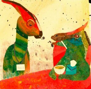 Illustration by Valeska Maria Populoh from the book Dinosaur Name Poems