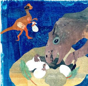 Dinosaur Name Poems illustration by Valeska Maria Populoh