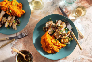 Today, I'm going to be taking you through how to cook Pork Chops with Sherry Vinaigrette Pan Sauce and Sweet Potato Mash Recipe.