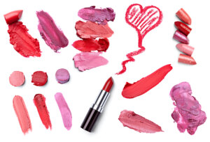 a collection of lipstick colors and samples - learn how to start a Lipstick Product line at home.
