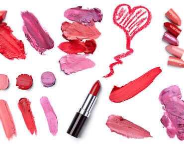 a collection of different lipstick colors and samples - learn how to start a Lipstick Product line at home.